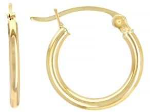14k Yellow Gold 15mm Hoop Earrings