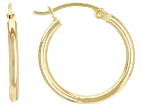 14k Yellow Gold 20mm Hoop Earrings