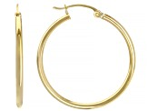 14k Yellow Gold 30mm Hoop Earrings