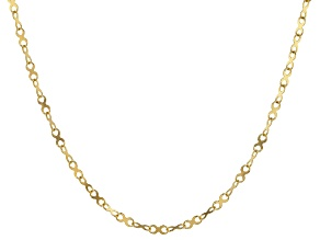 """14K Yellow Gold 18"""" X Design Chain Necklace"""