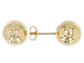 14K Yellow Gold DC Ball Studs