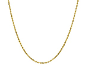 14K Yellow Gold 1.40MM Diamond-Cut Rope Chain 18 Inch Necklace