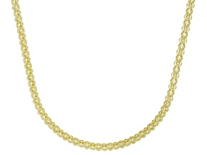 14K Yellow Gold Popcorn 18 Inch Chain