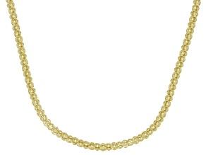 14K Yellow Gold Popcorn 20 Inch Chain