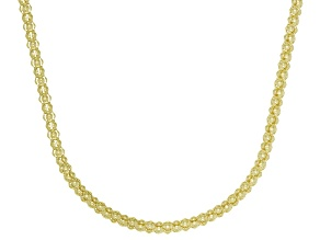 14K Yellow Gold Popcorn 24 Inch Chain