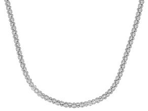 Rhodium Over 14K Gold Popcorn 20 Inch Chain