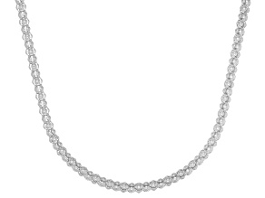 Rhodium Over 14K Gold Popcorn 24 Inch Chain