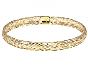 Splendido Oro™ 14K Yellow Gold Stretch Mesh Bangle Bracelet