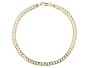 10k Yellow Gold Curb Link Bracelet 7.5 inch