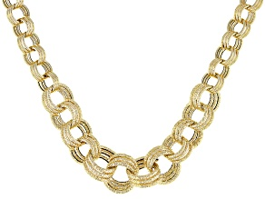 Splendido Oro™ 14k Yellow Gold Graduated Gemella 18 inch Necklace