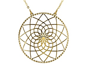 Splendido Oro™ 14k Yellow Gold Dream catcher 18 inch Necklace