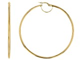 Splendido Oro™ 14k Yellow Gold High Polished 50mm Tube Hoop Earrings