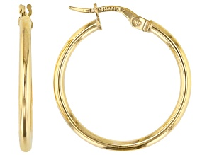 Splendido Oro™ 14k Yellow Gold High Polished 20mm Tube Hoop Earrings