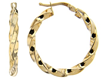 Picture of Splendido Oro™ 14K Yellow Gold 4.84MM Twisted Hoop Earrings