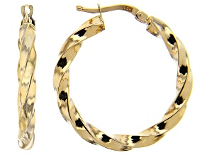 Splendido Oro™ 14K Yellow Gold 4.84MM Twisted Hoop Earrings