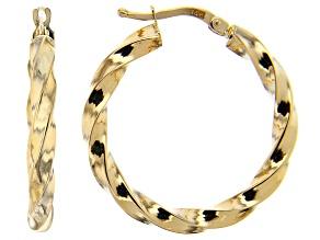 Splendido Oro™ 14K Yellow Gold 4.84MM Twisted Hoop Earrings