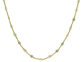 "Splendido Oro™ 14K Yellow Gold Bella Luce® Cubic Zirconia Crochet D'Tuscano 18"" Necklace 7.85ctw"