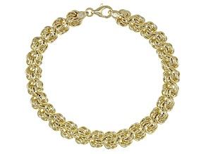 Splendido Oro™ 14k Yellow Gold Rosetta 7.5 Inch Bracelet