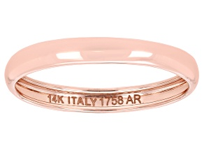 Splendido Oro™ 14k Rose Gold High Polished Band Ring