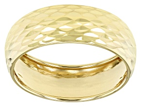 Splendido Oro™ 14k Yellow Gold Solid Diamond Cut Band Ring