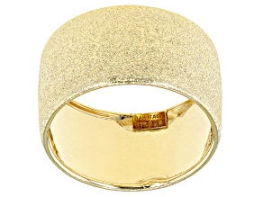 Splendido Oro™ 14k Yellow Gold Satin Band Ring