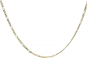 "Splendido Oro™ 14K Yellow Gold 18"" Figaro Necklace"
