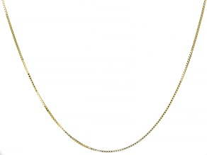 "Splendido Oro™ 14K Yellow Gold 18"" Box Chain Necklace"