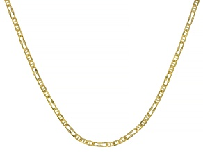 Splendido Oro™ 14K Yellow Gold 2.33MM Wave Figaro Chain 20 Inch Necklace