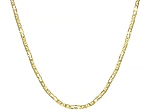 Splendido Oro™ 14K Yellow Gold 2.33mm Wave Figaro Chain 24 Inch Necklace