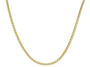 Splendido Oro™ 14K Yellow Gold 2.30MM Diamond Cut 20 Inch Wheat Link Necklace