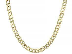 Splendido Oro™ 14K Yellow Gold Double Marquise Diamond Cut 18 Inch Necklace