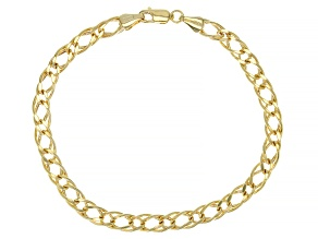 Splendido Oro™ 14K Yellow Gold 4.65MM Double Marquise Diamond Cut 7.5 Inch Bracelet