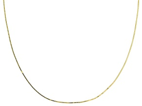 Splendido Oro™ 14K Yellow Gold Etruscan Box Chain  18 Inch Necklace