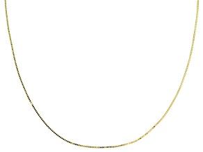Splendido Oro™ 14K Yellow Gold Etruscan Box Chain  18 Inch Necklace