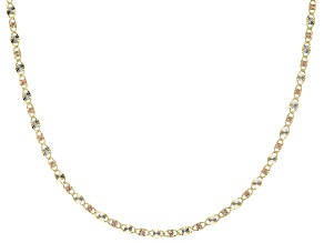 Splendido Oro™ 14K Tricolor Gold Valentino Star 18 Inch Necklace