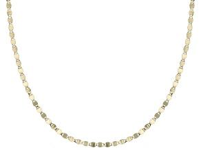 Splendido Oro™ 14K Yellow Gold Mirror Valentino Chain 20 Inch Necklace