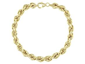 Splendido Oro™ 14K Yellow Gold 6.10MM Royal Rope Link Bracelet