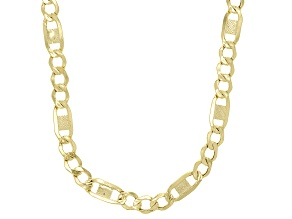 Splendido Oro™ 14K Yellow Gold 4.64MM Fantasy Figaro Chain 18 Inch Necklace