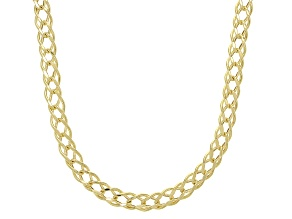 Splendido Oro™ 14K Yellow Gold 4MM Double Cuban Chain 18 Inch Necklace