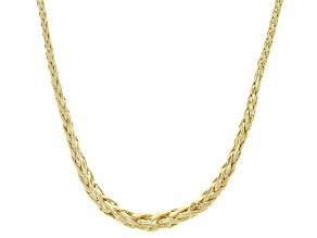 Splendido Oro™ 14K Yellow Gold 1.8MM Graduated Wheat Chain 18 Inch Necklace