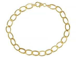 Splendido Oro™ 14K Yellow Gold Curb Mirror Link 7.5 Inch Bracelet