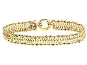 Splendido Oro™ 14K Yellow Gold Infinity Rope Link 7.25 Inch Bracelet