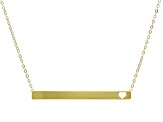 Splendido Oro™ 14K Yellow Gold Bar Love 18 Inch Cable Chain Necklace