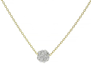 Splendido Oro™ 14K Yellow Gold Sparkle Bead 18 Inch Cable Chain Necklace