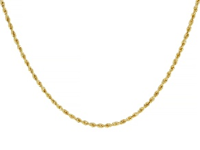 18K Yellow Gold 1.6MM Laser-Cut Rope 18 Chain