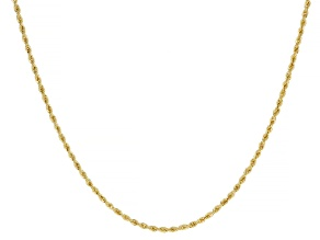 18K Yellow Gold 1.6MM Laser-Cut Rope 24 Inch Chain