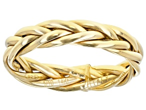 14K Yellow Gold with Sterling Silver Core Woven Band Ring