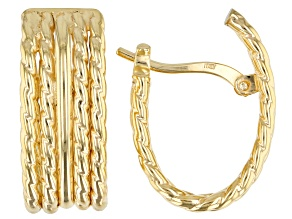 Splendido Oro Divino™ 14K Yellow Gold with Sterling Silver Core Multi-Row Earrings