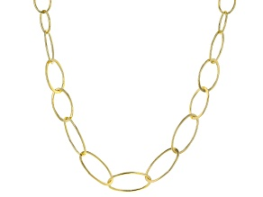 Splendido Oro Divino™ 14K Yellow Gold with Sterling Silver Core Graduated Oval Necklace