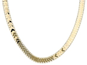 14K Yellow Gold 9.1MM Chevron Necklace